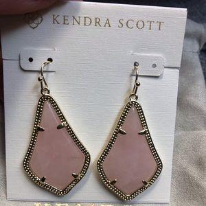 Kendra Scott Alex 14k gold rose qrtz earrings NWT
